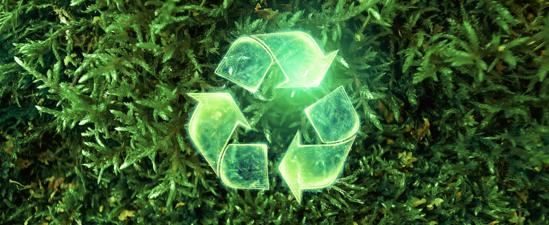 Zielony symbol recyklingu