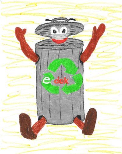 Rysunek przedstawiający śmietnik
