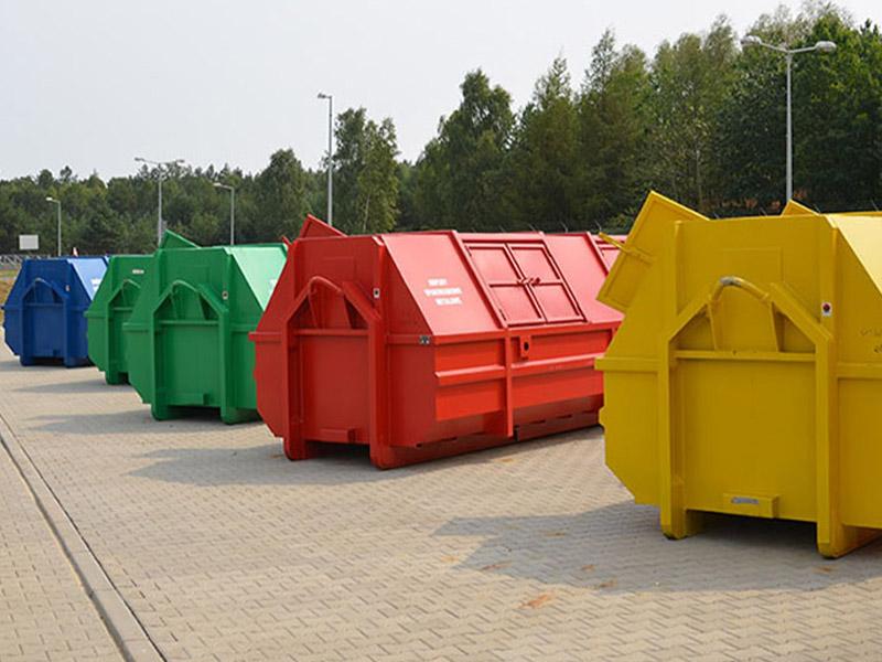 Konterery na segregowane śmieci
