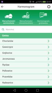 Screenshot aplikacji