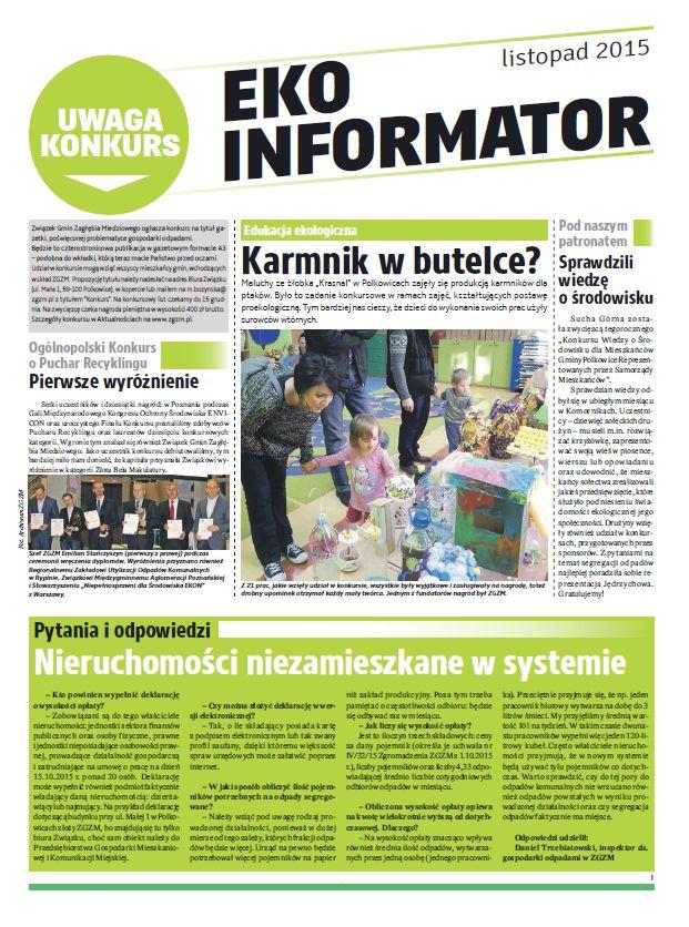 Związek Gmin Zagłębia Miedziowego ogłasza konkurs na tytuł gazetki, poświęconej problematyce gospodarki odpadami.