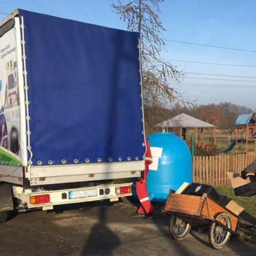 Mobilny punkt zbiórki odpadów wielkogabarytowych oraz elektroodpadów