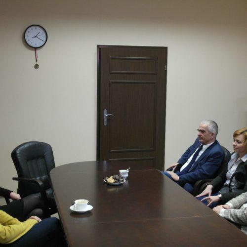 Rozmowy w biurze ZGZM z przewodniczącym Emilianem Stańczyszynem.