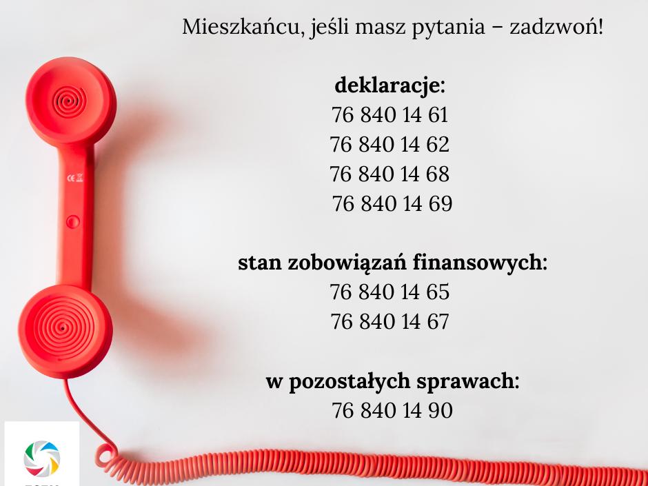 Numery telefonów ZGZM