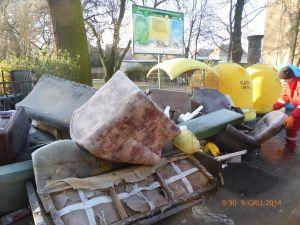 śmieci posprzątane przed świętami